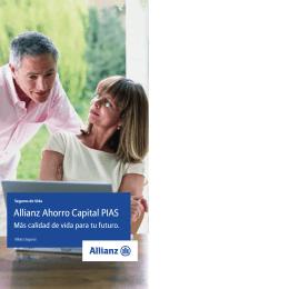 Folleto Allianz Ahorro Capital P.I.A.S.
