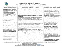 DISTRITO ESCOAR UNIFICADO DE LAKE TAHOE Paso 1