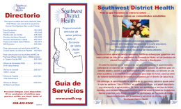 Southwest District Health Guía de Servicios