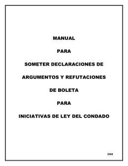 manual para someter declaraciones de argumentos y refutaciones