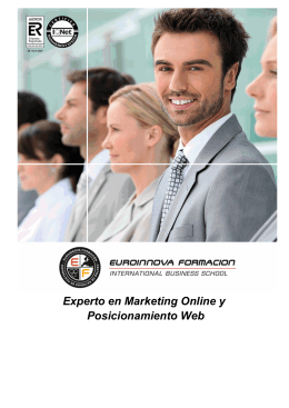 Experto en Marketing Online y Posicionamiento Web