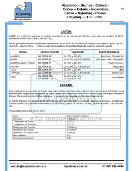 Descargar Manual de Tablas y Especificaciones