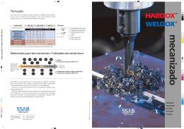 Mecanizado - WELDOX Acero Estructural
