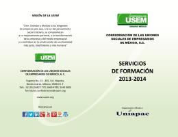 Catálogo de Servicios (Folleto) uv
