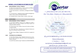 folleto jornadas
