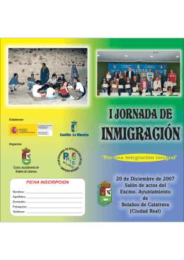 Folleto Jornadas.cdr - Ayuntamiento de Bolaños de Calatrava