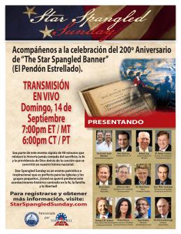TRANSMISIÓN EN VIVO Domingo, 14 de Septiembre 7:00pm ET