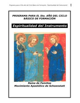 Programa 5º año CBF- Espiritualidad del instrumento