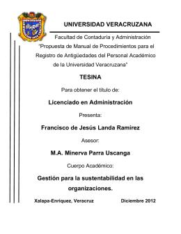 UNIVERSIDAD VERACRUZANA TESINA Licenciado en