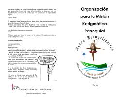 Organización para la Misión Kerigmática Parroquial