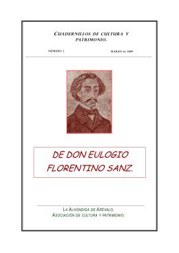 DE DON EULOGIO FLORENTINO SANZ.