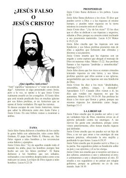 ¿JESÚS FALSO O JESÚS CRISTO?