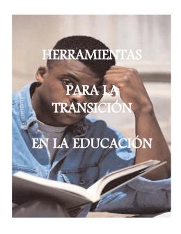 HERRAMIENTAS PARA LA TRANSICIÓN EN LA EDUCACIÓN