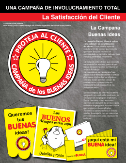 campaña Buenas Ideas - customer service training customer service