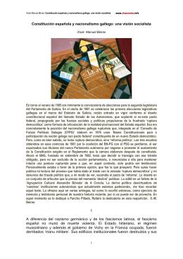 Constitución española y nacionalismo gallego: una visión socialista