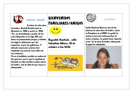 BIENVENIDOS FAMILIARES/AMIGOS