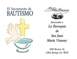 El Sacramento de La Parroquia de San Juan María Vianney