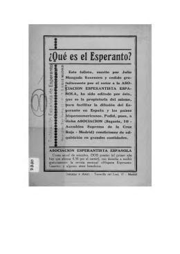 ¿Qué es el Esperanto? - Federación Española de Esperanto