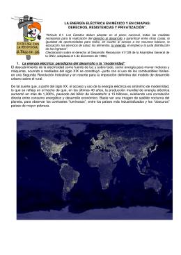 Energía eléctrica -México y Chiapas