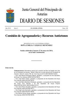 DIARIO DE SESIONES - Junta General del Principado de Asturias