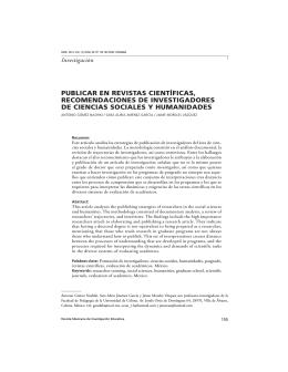 publicar en revistas científicas, recomendaciones de