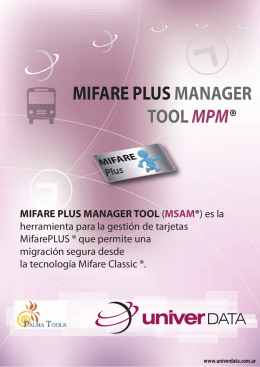 Folleto MifarePlus Manager