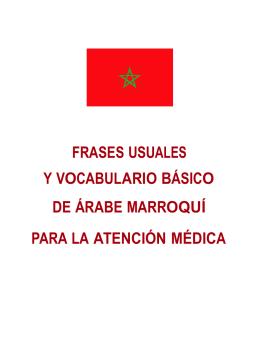 frases usuales y vocabulario básico de árabe marroquí para la