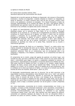La Iglesia en Estado de Misión Por Carlos Arturo Quintero
