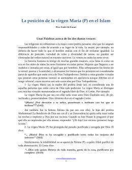 La posición de la virgen María (P) en el Islam