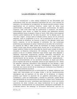 VI - La pos-dictadura: el campo intelectual Descargar archivo