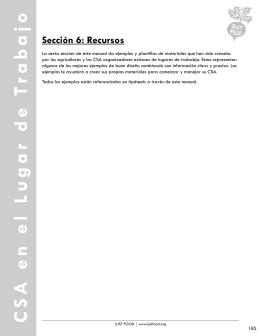 Sección 6 - Recursos