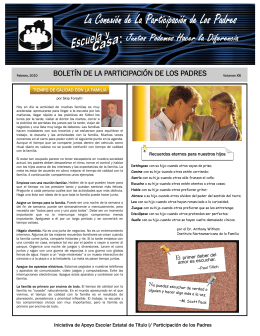 Newsletter February 2010 Spanish