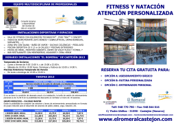 FOLLETO PUBLICITARIO ATENCIÓN PERSONALIZADA 2013