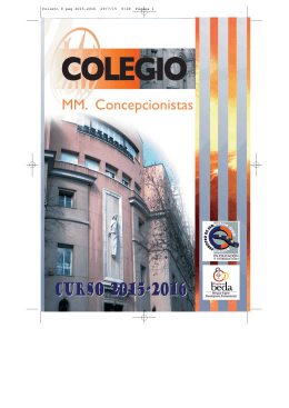 Folleto Informativo del curso 2015-16