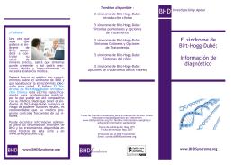El síndrome de Birt-Hogg-Dubé: Información de diagnóstico