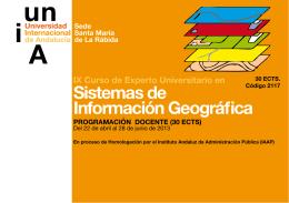 Folleto IX Curso de Experto en Sistemas de Informacion