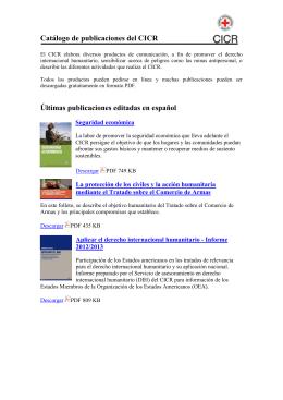 Ultimas publicaciones editadas en español por el CICR