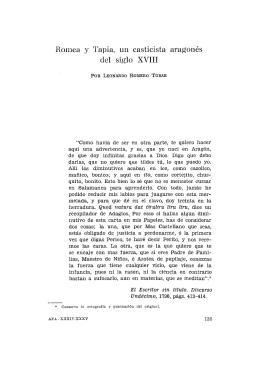 8. Romea y Tapia, un casticista aragonés del siglo XVIII, por