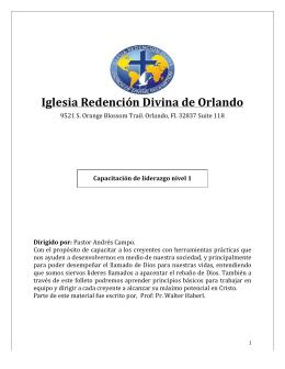 LIDERAZGO 101 - Iglesia Redencion Divina de Orlando