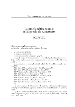 Nota filológica preliminar