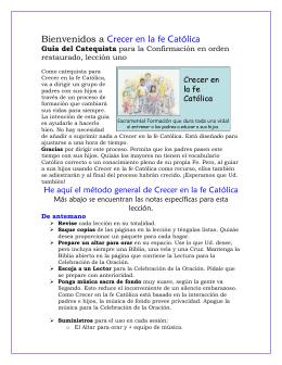 Lesson catechist ROC 1- español