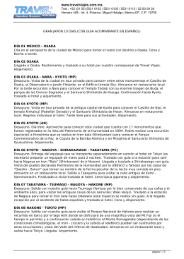 GRAN JAPÓN 10 DIAS (CON GUIA ACOMPAÑANTE EN ESPAÑOL)