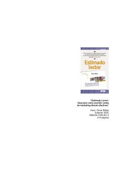 Autor: Óscar Bilbao Editorial :ESIC ISBN