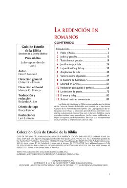 LA REDENCIÓN EN ROMANOS