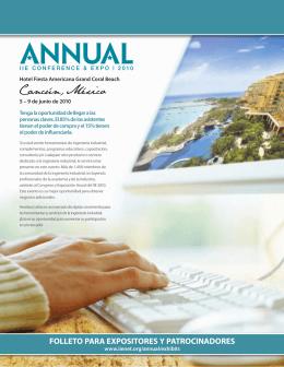 folleto para expositores y patrocinadores salón de exposiciones