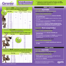 CERENIA-Tabla de dosis-folleto hoja veterinario