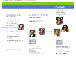 ¿Cáncer? - Cancer Hope Network