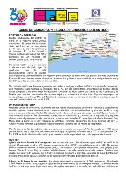 guias de ciudad con escala de cruceros (atlántico)
