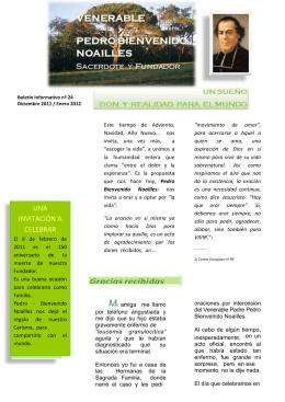 UNA INVITACIÓN A CELEBRAR - Sainte Famille de Bordeaux