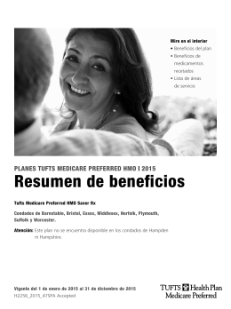 Folleto del Resumen de beneficios del plan Tufts Medicare